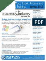 Spring 2015 Microsoft Office 2010 Flyer