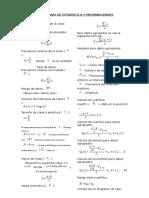 Formulario de Estadistica y Probabilidades