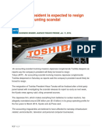 Article 2b. Agency costs - Toshiba President to resign over accounting scandal.pdf