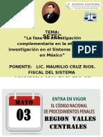 """""""La-fase-de-investigación-complementaria-en-la-etapa-de-investigación-en-el-Sistema-Acusatorio-en-México""""-22-ABRIL-2016."""