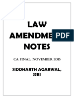 Amandment Notes for CA Final Law