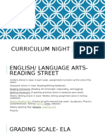 curriculum night 16-17