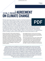 Paris Agreement on Global Climate Change