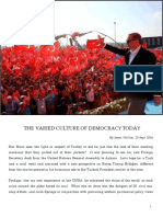 The Varied Culture of Democracy Today by Jason McCue