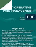 Pain Management in Surgical Patients