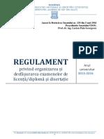 Regulament Organizare Si Desfasurare Examen Diploma Disertatie