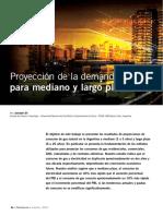 Proyección de la demanda de gas para mediano y largo plazo