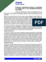 RE Transportation of TENORM Waste (399)-TENORM-DOT-Ship_PA-DeP-FS_Dec2014