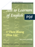 U Thein Mg - Aids To Learners of English