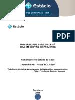 Fichamento - Gerenciamento de Stakeholders e Comunicações JADSON HOLANDA