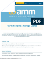 How to Complete a Marriage License