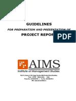 AIMS - Internship Project - Presentation & Preparation - Guidelines