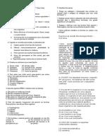 Exercícios de Revisão Microbiologia