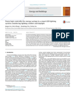 Fuzzy Logic Controller for Energy Savings in a Smart LED Lighting