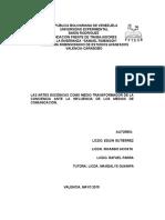 Informe Proy Las Artes Escénicas Como Medio Transformador de La Conciencia