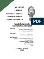 Informe Modelos E-r y Relacional