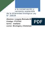Ley Sobre La Conservación y Aprovechamiento Sostenible de La Diversidad Biológica Ley N