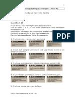 Teste de Português Língua Estrangeira A2