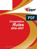 IAAF Competition Rules 2016-2017, In Force From 1 November 2015