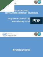 Interrogatorio - Contrainterrogatorio y Objeciones