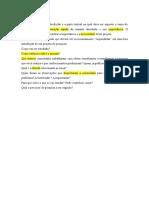 Elementos Textuais e Pós Textuais Do Projeto de Pesquisa