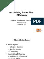 Maximizing Boiler Plant Efficiency