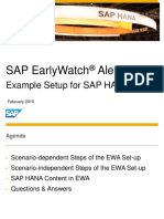 Sap Earlywatch Alert for Sap Hana