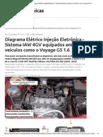 Técnicas Diagrama Elétrico Injeção Eletrônica - Sistema IAW 4GV