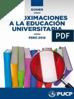 Aproximacimaciones a La Educacion Universitaria