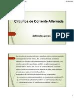 Circuitos de Corrente Alternada ATUALIZADO 31-08-16