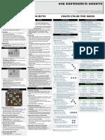 Warhammer 40k Reference Sheet