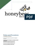 Honeybees Policies & Procedures Jan 2016 Updated May 2016