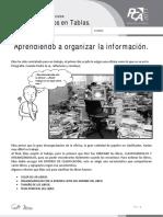 Ficha 1, Aprendiendo a Organizar La Información
