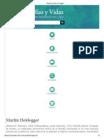 Heodegger - Biografia de Martin Heidegger