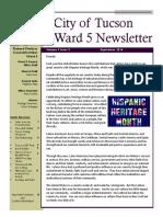 Ward 5 Newsletter - September 2016