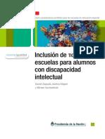 Inclusion de TIC en Escuelas Para Alumnos Con Discapacidad Intelectual