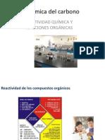 Reacctividad Quimica y Reaaciones Organicas