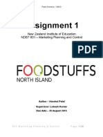 Foodstuffs Marketing Planning and Control