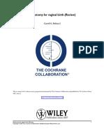 Cochrane Episiotomy for Vaginal Birth (Review)