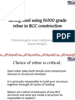 8962Saving Steel Using Fe500 Grade Rebar