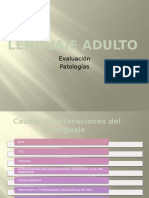 Lenguaje Adulto en Fonoaudiología