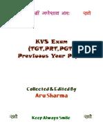 KVS TGT PGT PRT Previuous Pepers