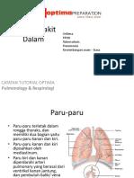 Ilmu Penyakit Dalam Pulmonology Respirologi