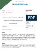 Santiesteban - Heidegger y Vattimo, Intérpretes de Nietzsche
