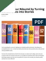 Improve Your Résumé by Turning Bullet Points into Stories.pdf