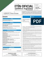 Boletín Oficial de la República Argentina, Número 33.472. 29 de septiembre de 2016