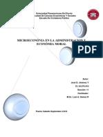 Microeconomia y Economia Moral en La Adm. Publica