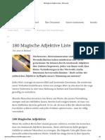 180 Magische Adjektive Liste - 30Tausend