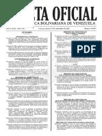Gaceta Oficial Número 40.997 de la República de Venezuela, 27 de septiembre de 2016