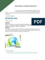 Plan de Negocio ECOVIDA 204